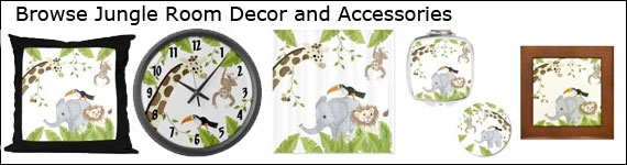 JUNGLE THEME: JUNGLE ANIMAL WALL MURALS BY COLETTE