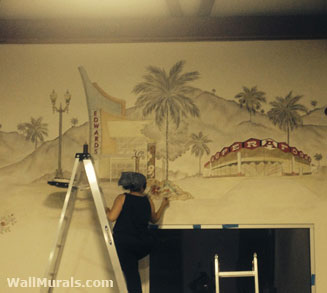 Custom hand painted wall murals by colette mural artist for Corporate mural