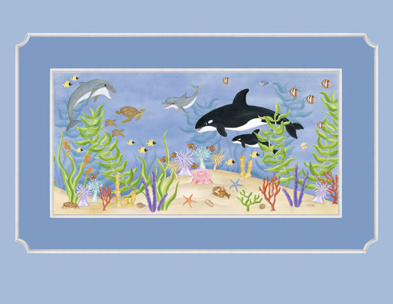 wall about fun large ocean wallpaper mural underwater