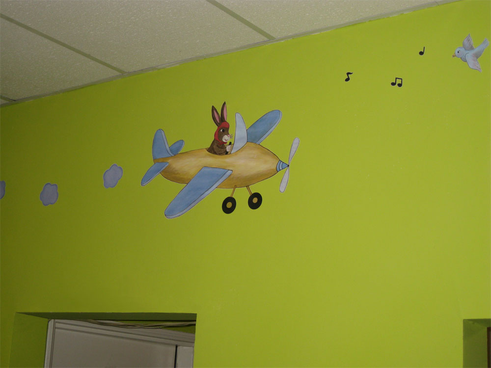 Airplane wall mural for Aeroplane wall mural