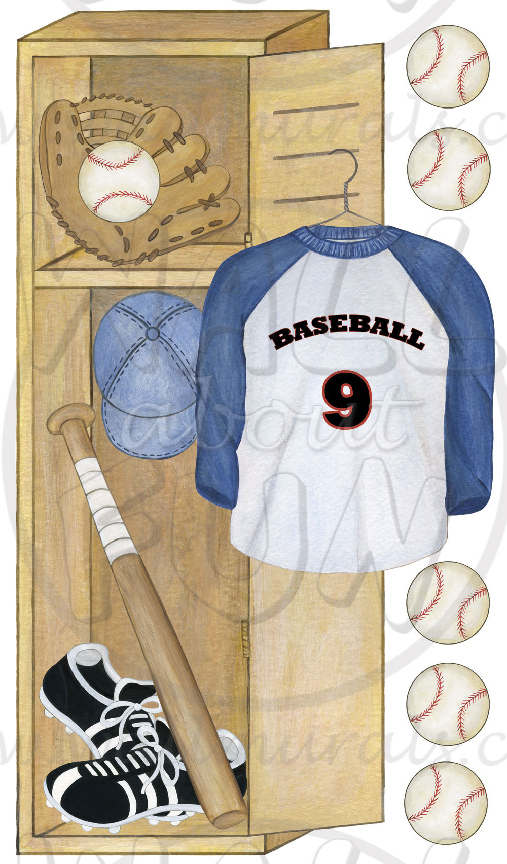 Baseball Wall Murals Wallpaper Baseball Locker Wall Decals