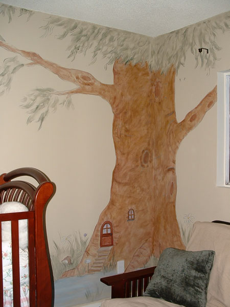 Tree wall murals by colette tree paintings on walls for 7 habits tree mural