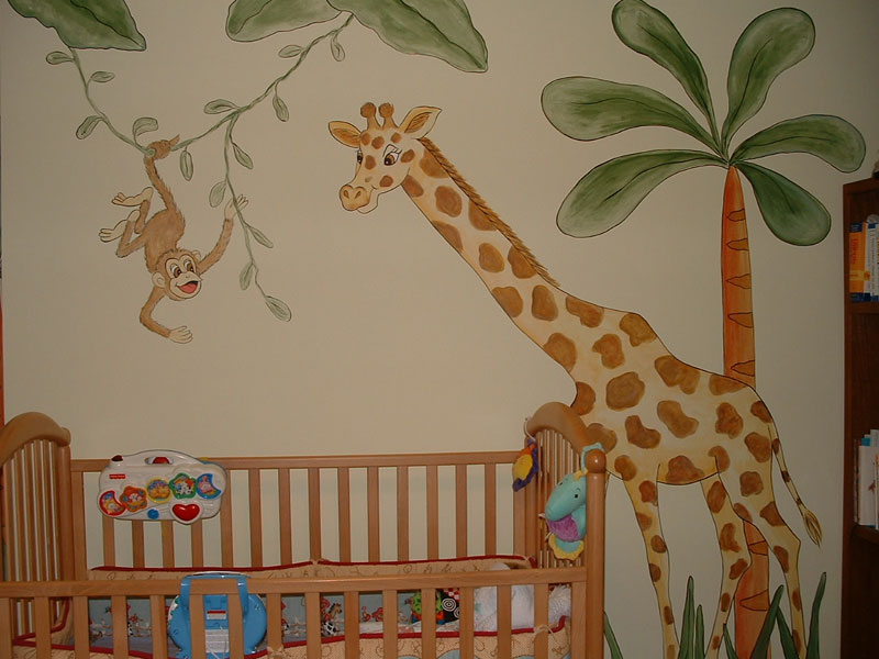 Future inspiration room ideas for Baby room jungle mural