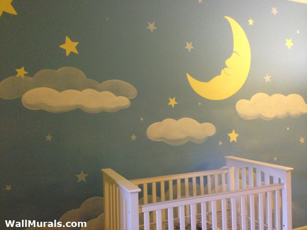 Baby room wall murals by colette baby girl wall murals for Baby nursery wall mural