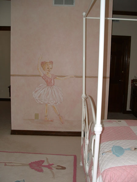 Girls room wall murals by colette wall murals for girls for Ballerina wall mural