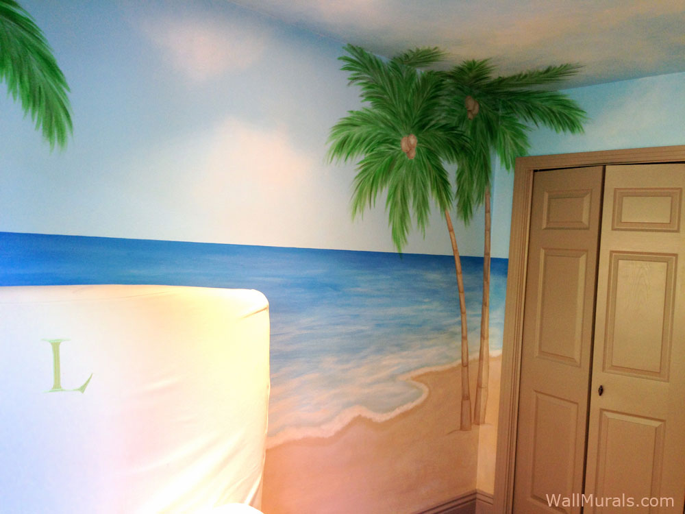 ocean themed wall murals surf themed murals beach