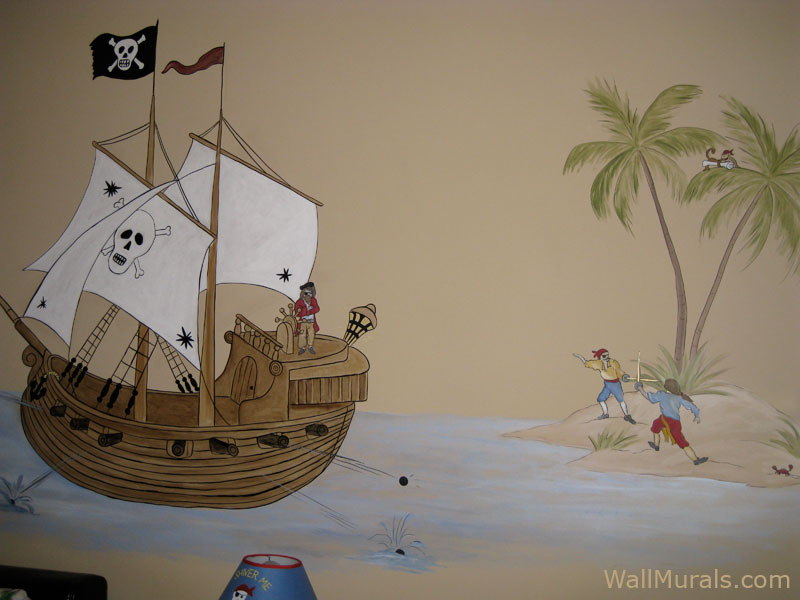 pirate theme wall murals by colette pirate wall murals