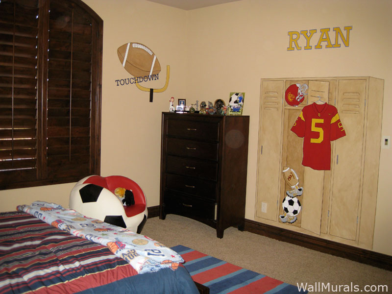 Sports Wall Murals By Colette: Sports Themed Rooms