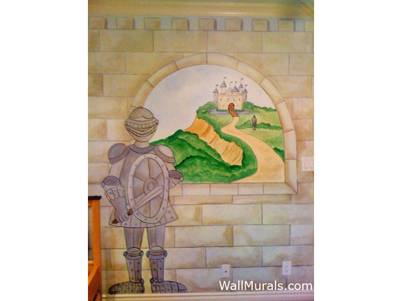 castle wall murals by colette castle murals castle castles and rainbow wall mural cinderella princess bedding