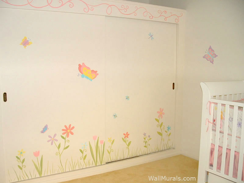 Baby room wall murals by colette nursery wall murals for for Daisy fuentes wall mural