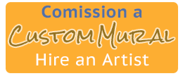 Hire An Artist - Muralist - Button