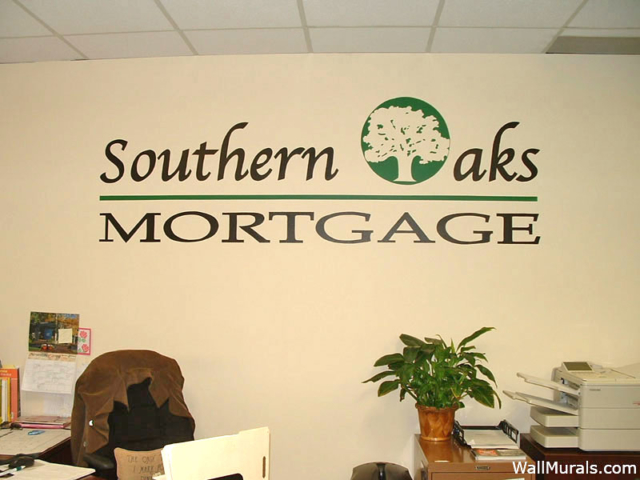 Business Logo Painted on Wall of Office