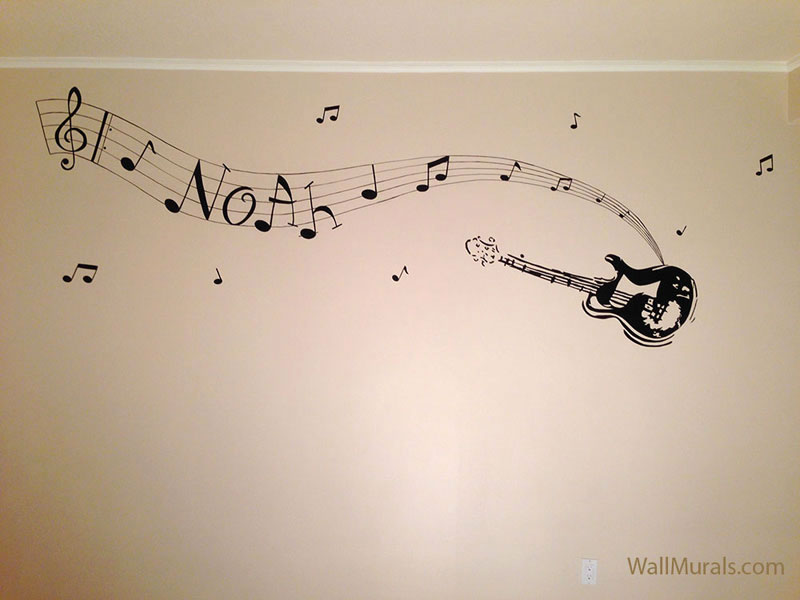 music wall murals examples music wallpaper mural teenagers decor fun decor