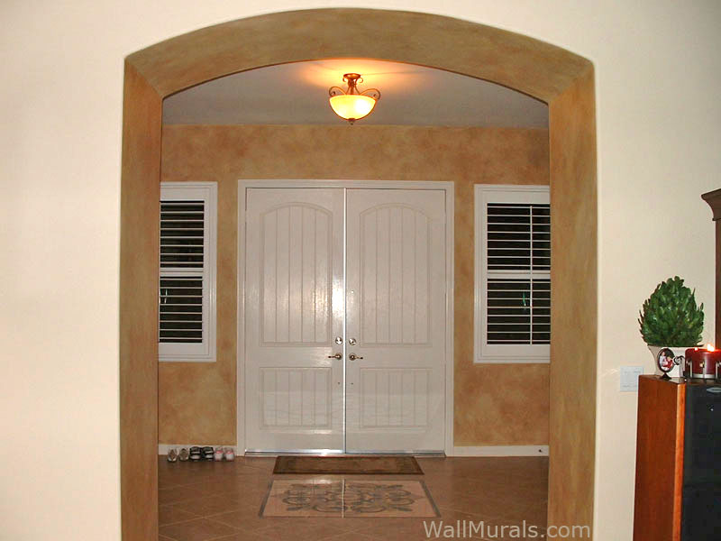 Faux Painted Entry Walls