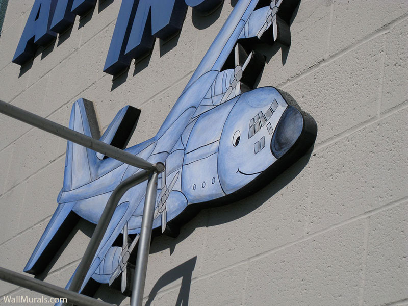 Painted Airplane Sign for Business