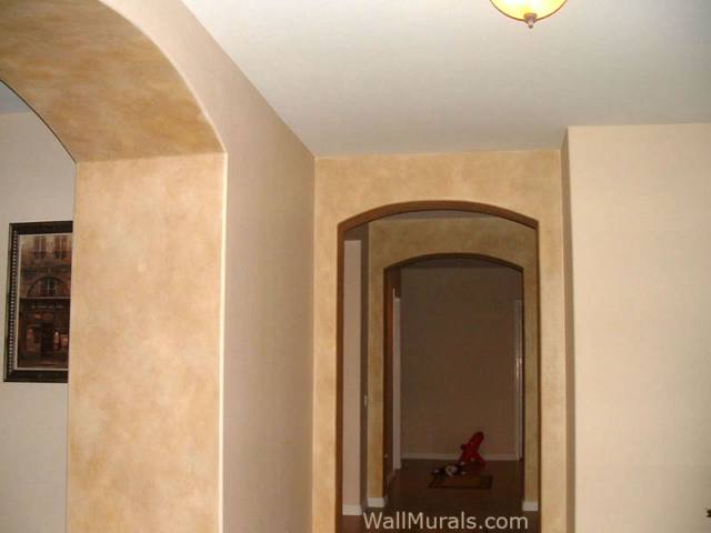 Faux Painted Archways in Entry