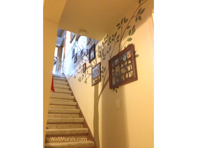 Family Tree Mural in Stairway