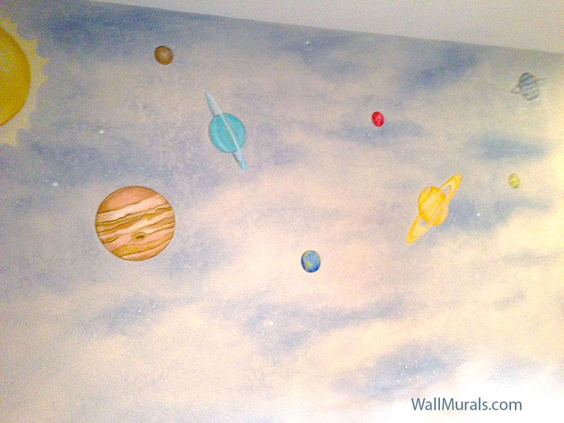 space wall murals exles custom outer space wall murals