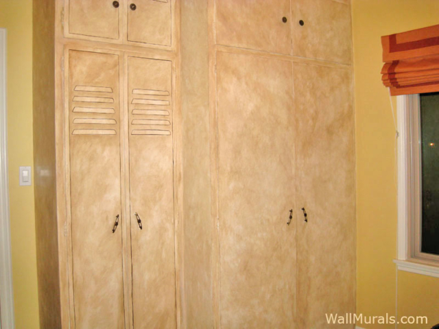 Closet Doors Painted to look like Sports Locker