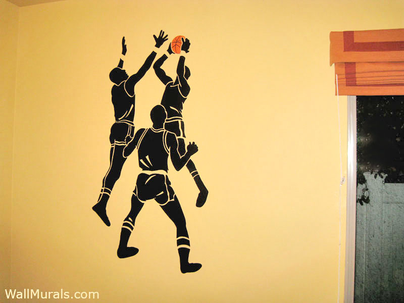 Sports wall murals examples of sports murals for Basketball mural wallpaper
