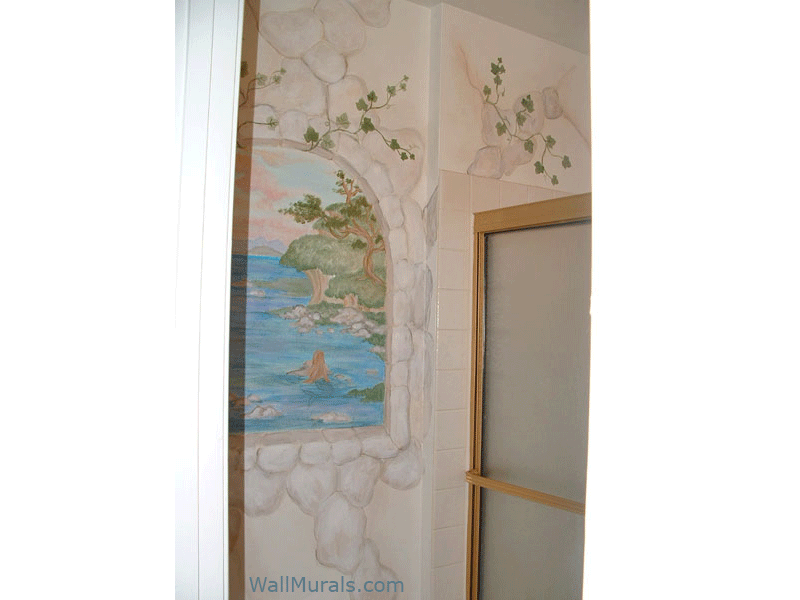 Hand Painted Window Wall Murals