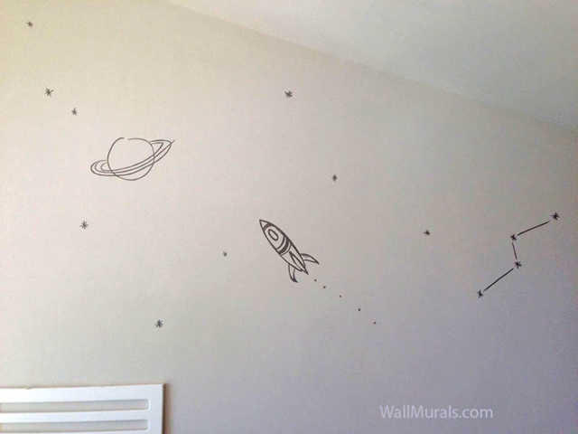 space wall murals examples custom outer space wall murals planet and outer space space amp astronomy wall murals