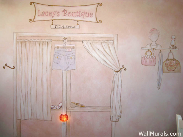 Mural for Teen - Painted Boutique Mural