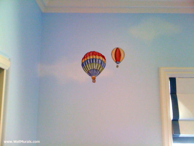 Vintage Hot Air Balloon Mural