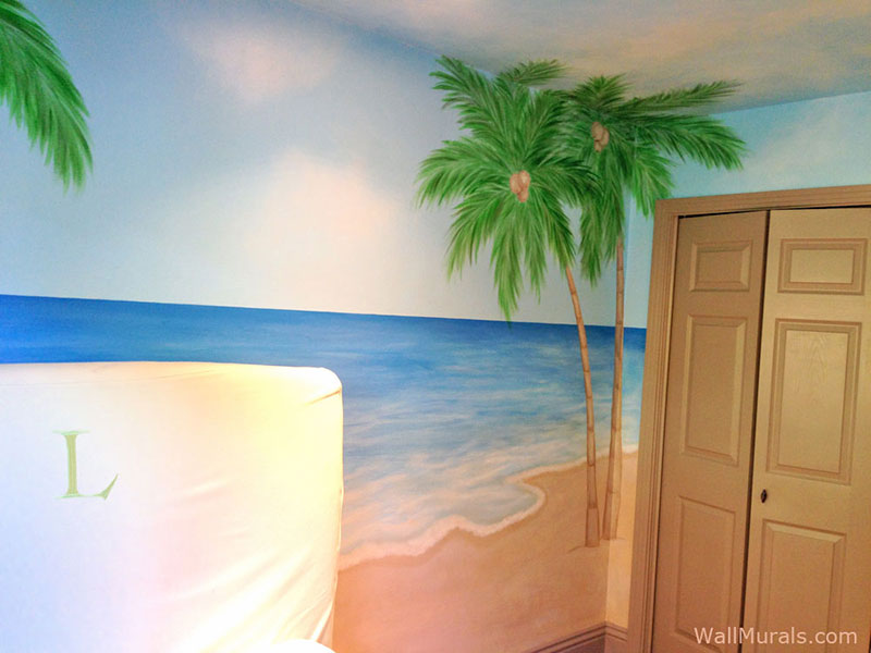 ocean wall murals beach themed murals undersea animals sacredart murals tropical paradise mural