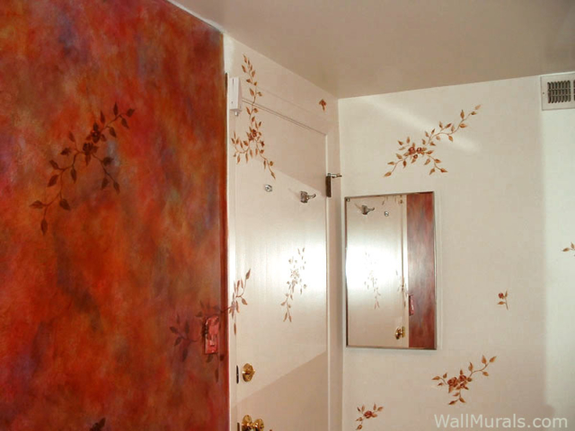 Red Faux Walls