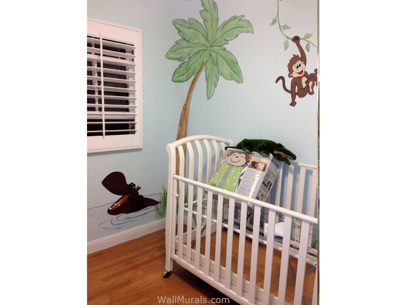 jungle wall murals examples of jungle theme murals alfa img showing gt monkey wall murals for nursery