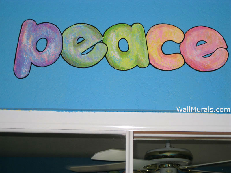 Peace Mural - Hippie Chick