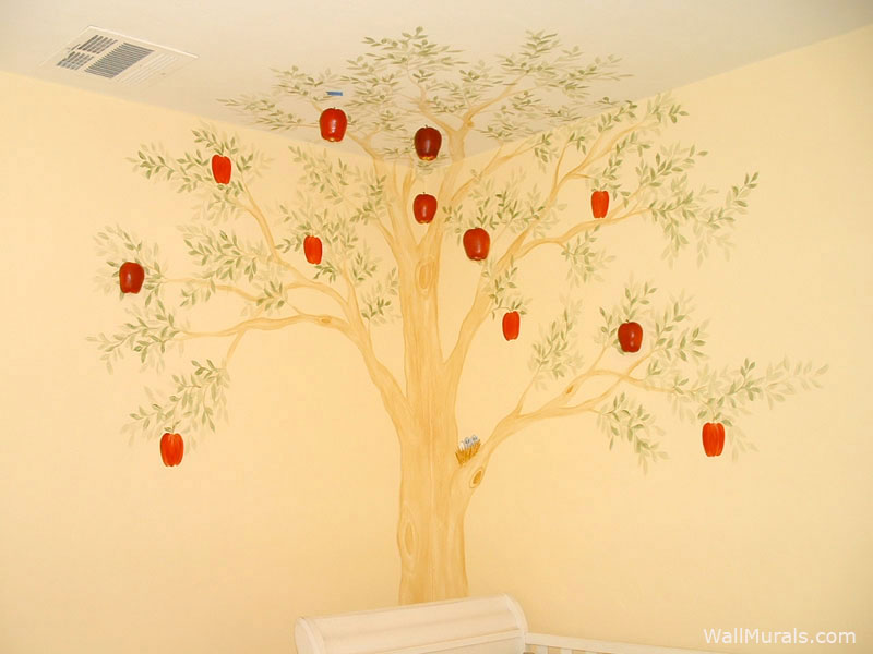 3D Apple Tree Wall Mural