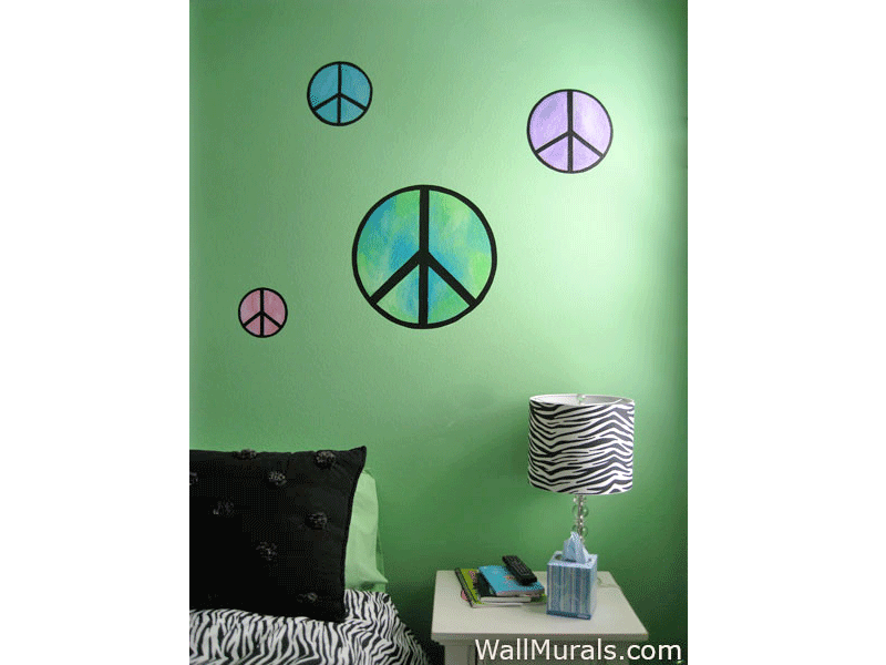 Peace Sign Mural for Teen