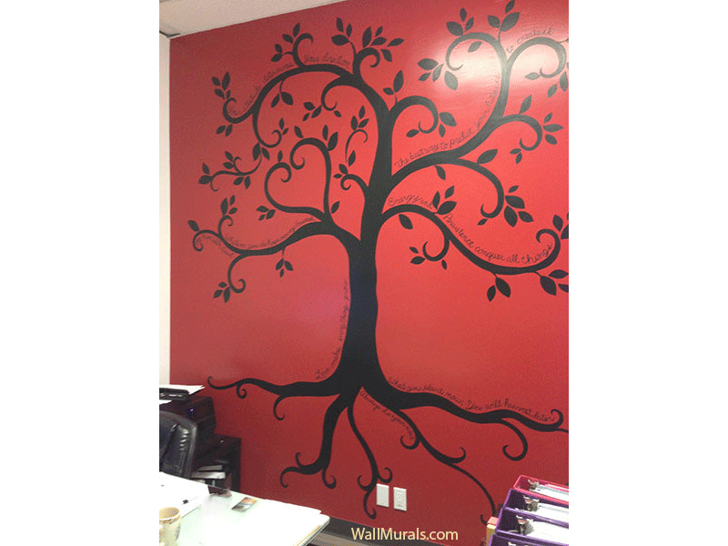 Tree wall murals 50 hand painted tree wall mural examples for Mural inspiration