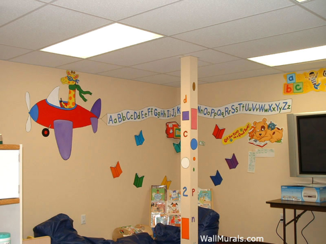 preschool wall murals daycare murals playroom mural outside wall murals outdoor mural examples