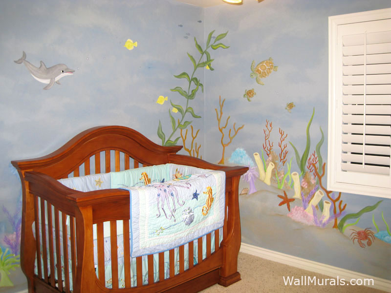 ocean wall murals beach themed murals undersea animals 15 impressive wall mural ideas that bring the outdoors in