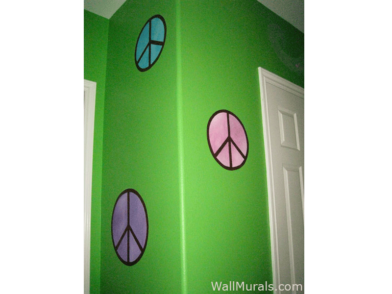Teen Wall Mural - Peace Signs
