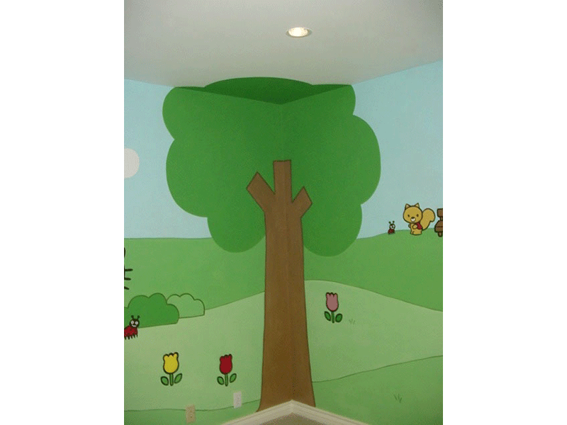 Cartoon Tree Mural