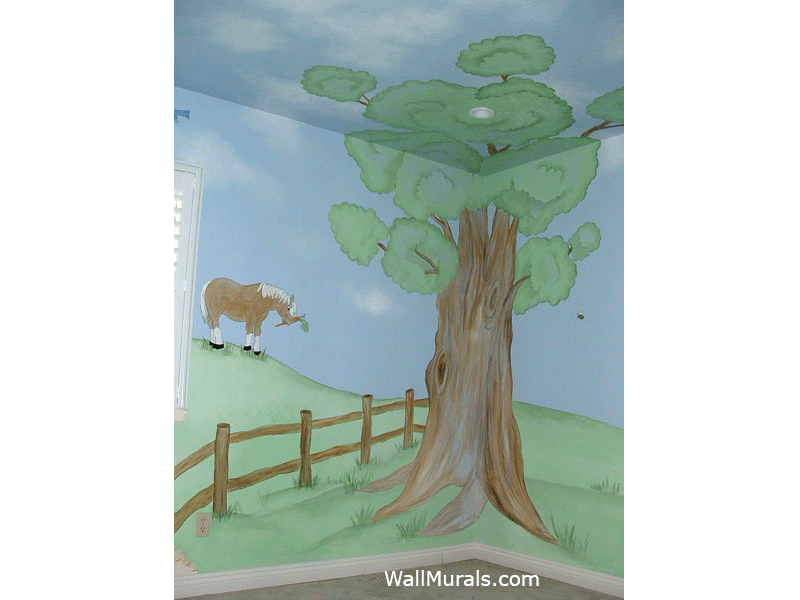 Farm Tree Wall Mural