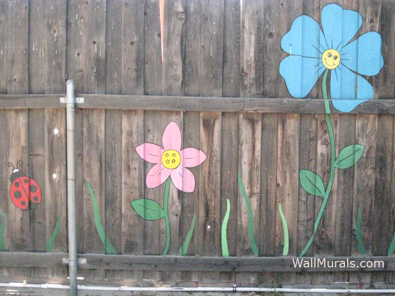 Painted Fence Mural at School