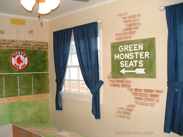Fenway Park - Green Monster Wall Mural