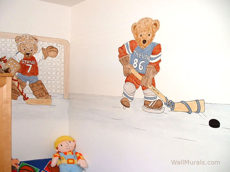 Hockey Wall Mural