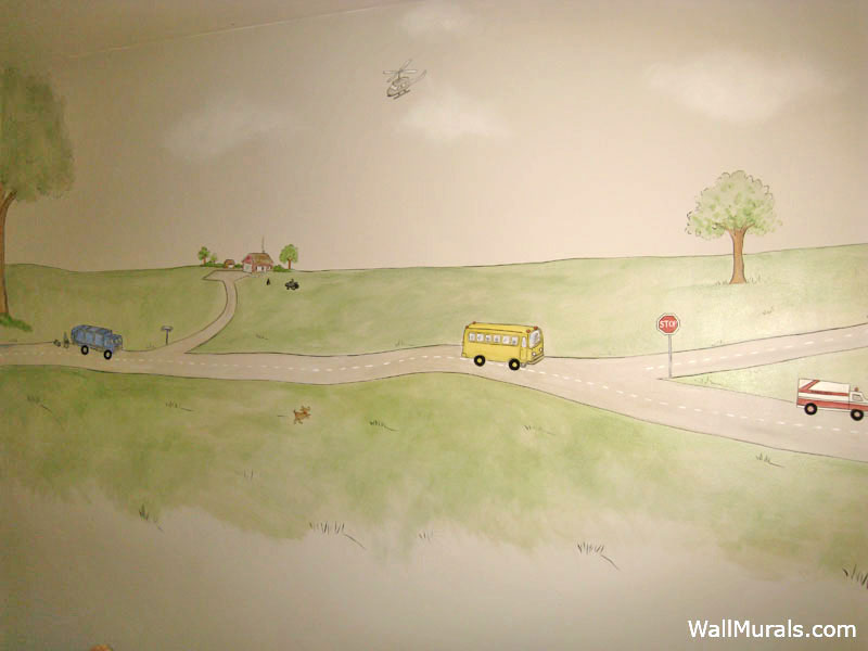 Transportation wall murals examples of transportation for Mural examples