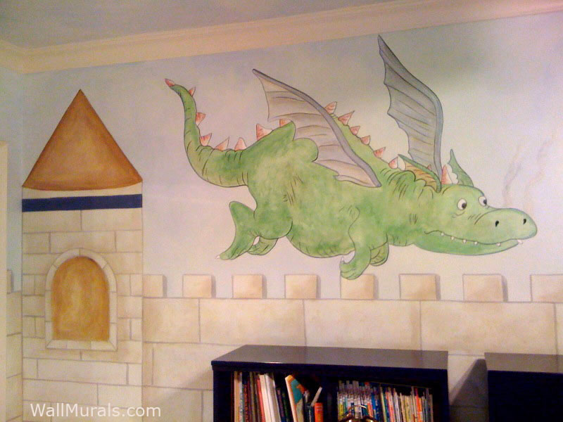 Castle Mural with Dragon
