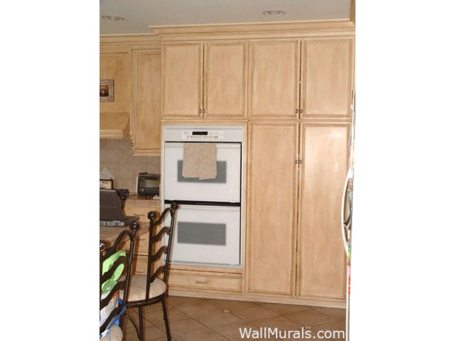 Faux Rubbed Kitchen Cabinets