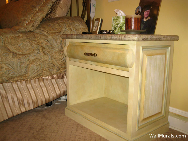 Hand-Painted Night Stand