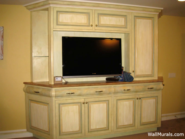 Faux Painted Built-in Furniture in Master