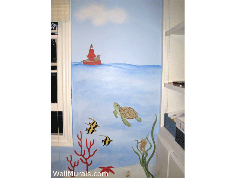 Ocean Wall Murals Beach Themed Murals Undersea Animals