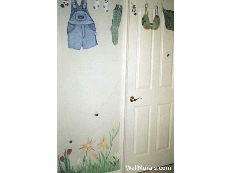 laundry room wall mural exles
